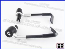 BRAKE AND CLUTCH LEVER PROTECTORS NEW DESIGN SILVER TRACK, RACE, STREETBIKE